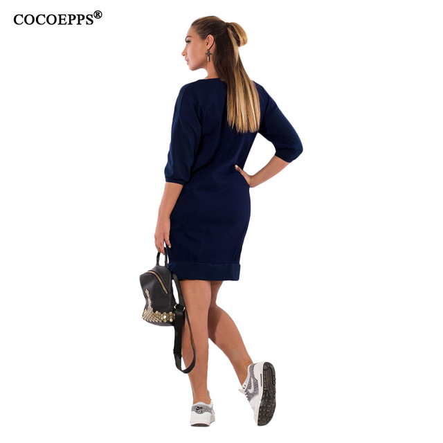 Women Casual  Elegant Blue Dress
