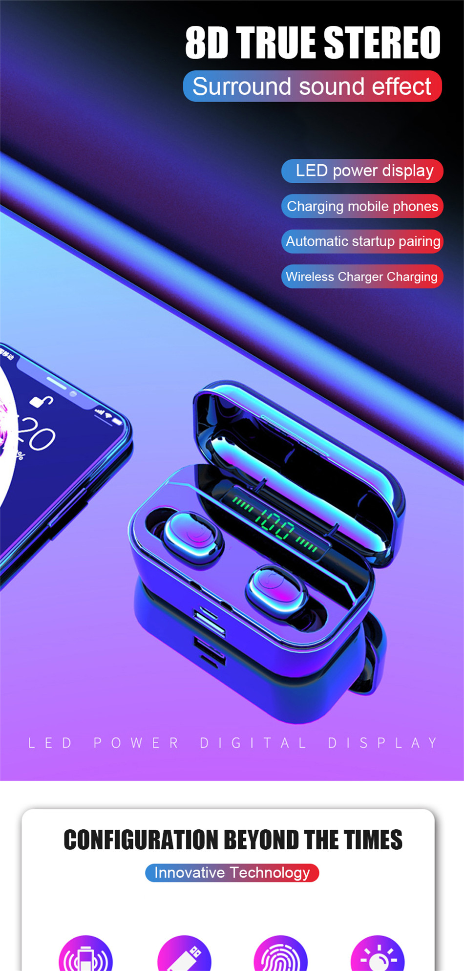 HOT SALE] VOULAO Bluetooth Earphone G6s TWS Wireless Headphone With