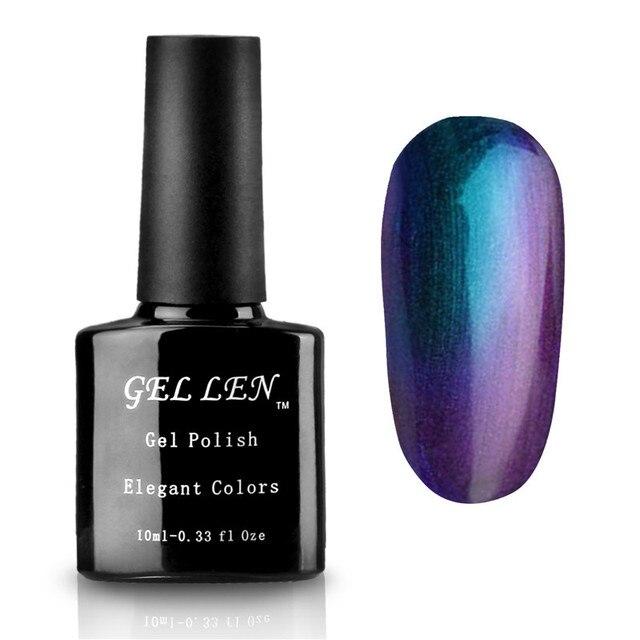 Chameleon Change Gel Polish UV Soak Off Gel Varnish Elegant Colors DIY Nail Art Led Long Lasting Gel Polish 6Colors