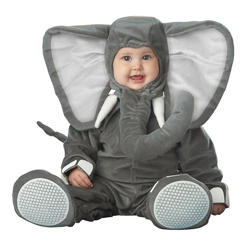 Cozy And Cuddly Baby Lil' Elephant Adorable Little Pachyderm Infant Animal Halloween Costume on AliExpress
