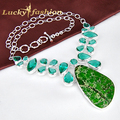 Fashion Designer Hot Selling Silver Jewelry Classic Natural Imperial Taper Chain Necklace