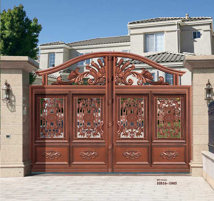 Home Aluminium Gate Design / Steel Sliding Gate / Aluminum Fence Gate Designs Hc-ag4