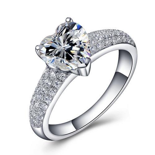 Luxury Jewelry heart shaped 12 carat SONA simulation diamond