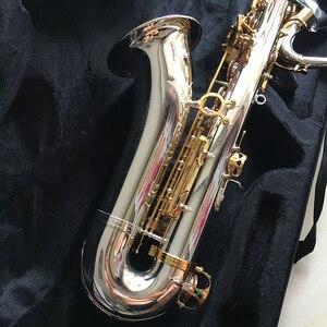 Image 4 - 100% SevenAngel Brand Tenor Saxophone Bb tone Woodwind Musical  Instrument Silver & gold Surface Provide  OEM Sax