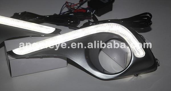Для TOYOTA Highlander 12 светодиодов DRL Дневной ходовой светильник 2012-2013 год YDC