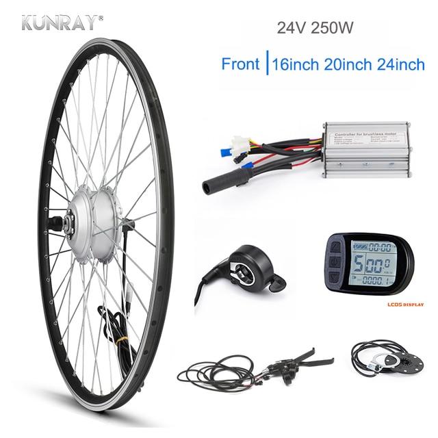 22-28inch Electric Bicycle E-Bike Front Rear Wheel Motor Conversion Kit 24V-250W