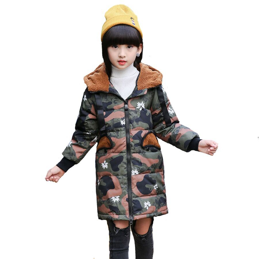 Jacket Girl Casual Children Parka Girls Winter Coat Long Section Down Thick Faux Fur Hooded Winter Down Jacket For Girls winter girl jacket children parka winter coat duck long thick big fur hooded kids winter jacket girls outerwear for cold 30 c