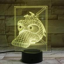 Animal Duck Led Night Light Touch Sensor 7 Color Changing Bedside Decorative Lamp Child Kids Baby Kit Nightlight 3D