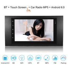 7'' Smart Android 6.0 2 Din Car Stereo Radio Player GPS Navigation with BT WIFI AM/FM Fit for Ford Focus Transit 2006 цена 2017