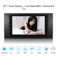 7'' Smart Android 6.0 2 Din Car Stereo Radio Player GPS Navigation with BT WIFI AM/FM Fit for Ford Focus Transit 2006