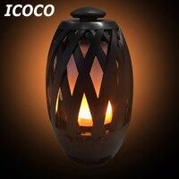 ICOCO Portable Mini 96 LED Flame Wireless Bluetooth Speaker Flame Atmosphere Night Light Stereo Bass Speaker