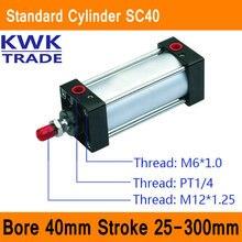 SC40 Стандартные Цилиндры Воздуха Клапан CE ISO Диаметр 40 мм Строк 25 мм до 300 мм Ход Одноместный Род Двойного действия Пневматический Цилиндр
