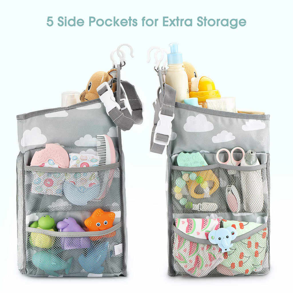 Baby Newborn Hanging Diaper Caddy Organizer Diaper Stacker for Changing Table