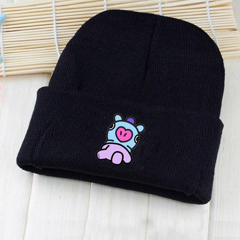 BT21 Adult Casual Unisex Cotton K-pop Bts Cap Bangtan In Bloom Hat Cartoon Cute Pt.2 Baseball Caps Kpop Knitted Hats BTS cute pumpkin hat cap orange