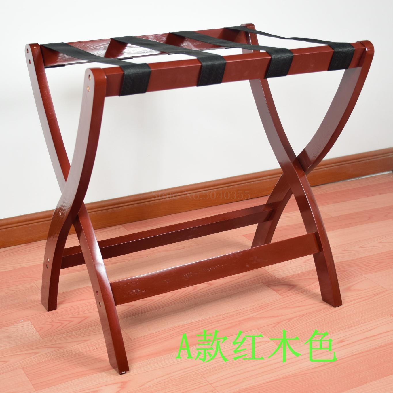 Гостиничная мебель для отеля багажные стеллажи прикроватная тумбочка для спальни складной домашний пол вешалка для одежды дерево - Цвет: VIP 3