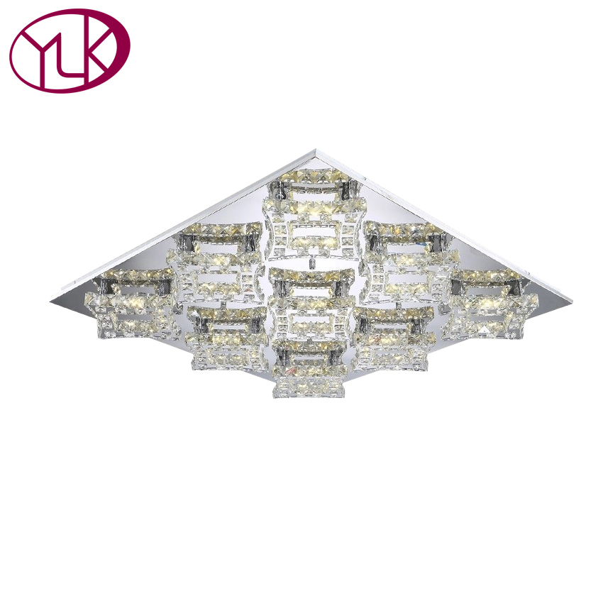 цена Free Shipping Hot Sale Modern Led Ceiling Crystal Lights Lustre Luminaria Teto Abajur 110-240v Living Room Lamps Guaranteed 100%