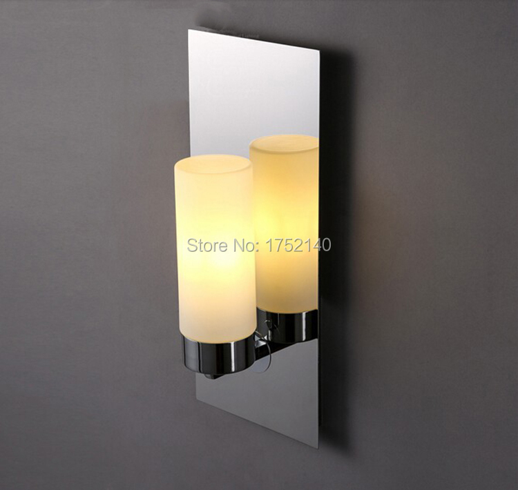 Chrome Brown Modern Led Wall Lamps Sconces Lights Bathroom Kitchen Wall Mount Lamp Candlestick Candle Wall