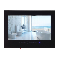 Souria 27inch Black High Quality Bathroom TV LED Screen Ip66 Waterproof TV Frameless Wall Mount