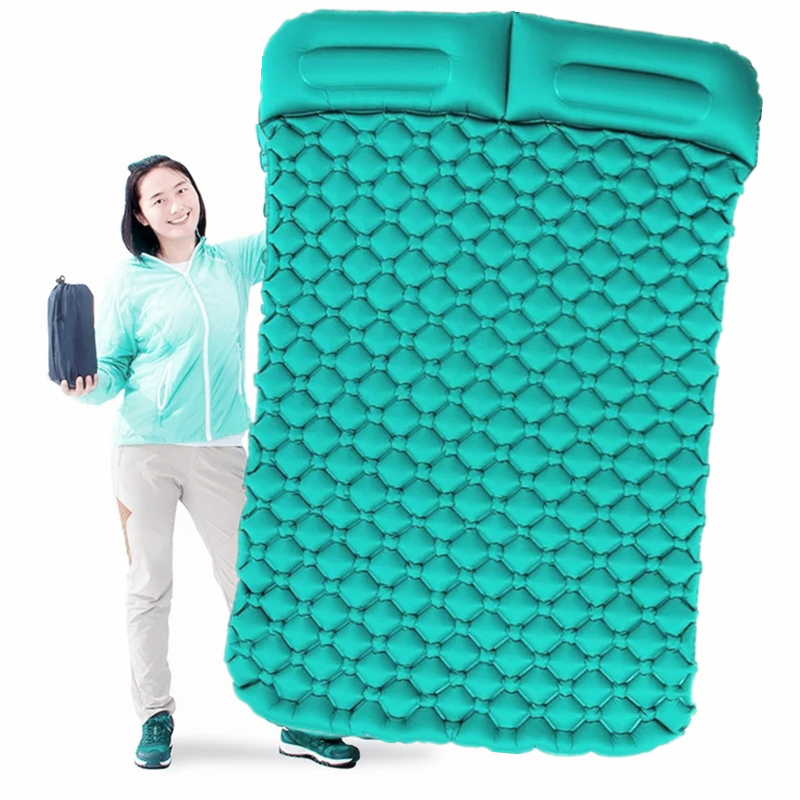 Tent Air Camping Mats Inflatable Cushion Double Outdoor 2 person Picnic Beach Plaid Blanket baby Pad Home Rest Soft Mattress