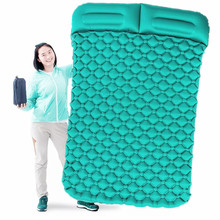 Tent Air Camping Mats Inflatable Cushion Double Outdoor 2 person Picnic Beach Two Plaid Blanket baby Pad Home Rest Soft Mattress(China)