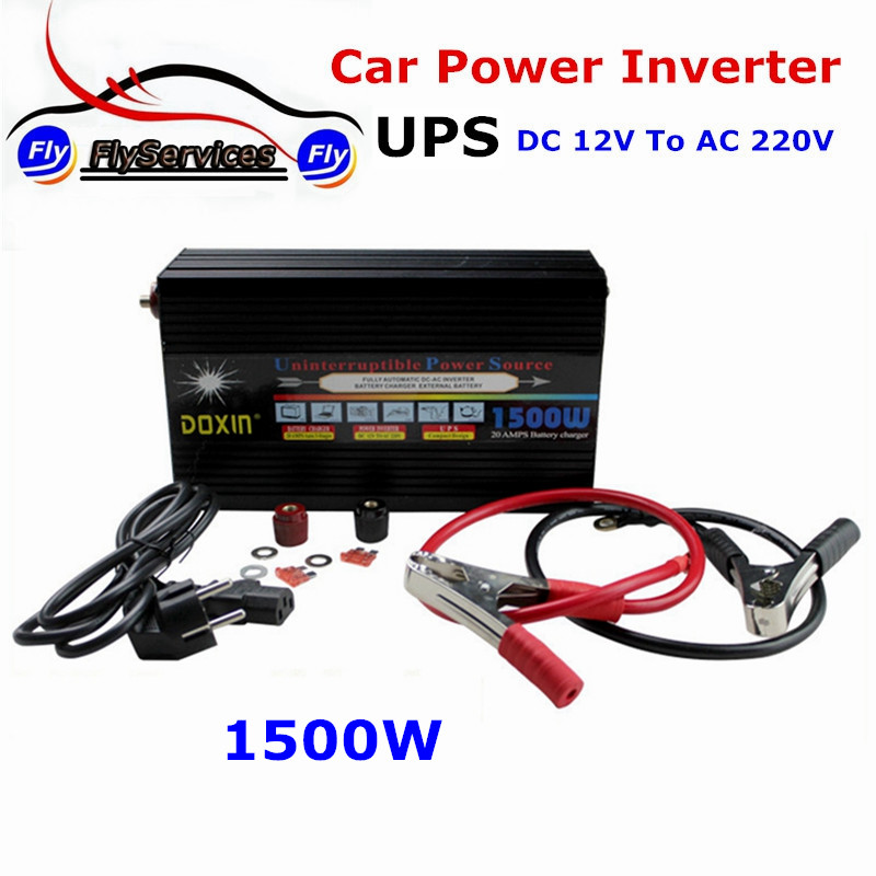 цена на Automotive Power Inverter 1500Watt UPS DC12V To AC 220V DOXIN Car Power Inverter 1500W With Charger Battery