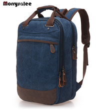Men Backpack Casual Canvas Bag Unisex School Bag