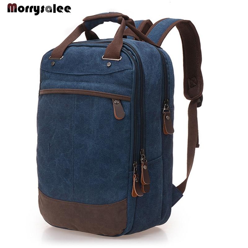 Men Backpack Casual Canvas Bag Unisex School Bag Computer Backpack Student Leisure Shoulder Bags