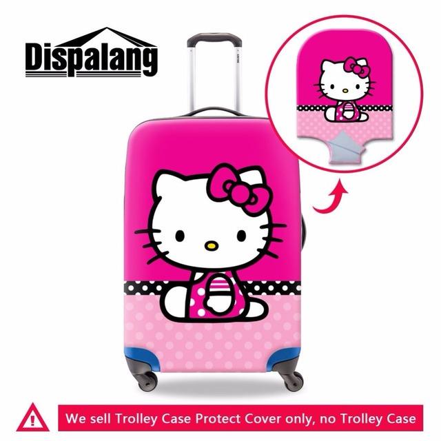 Dispalang dos desenhos animados olá kitty grosso elástico tampa mala de viagem bagagem capa protetora 18-30 polegada moda acessórios de viagem