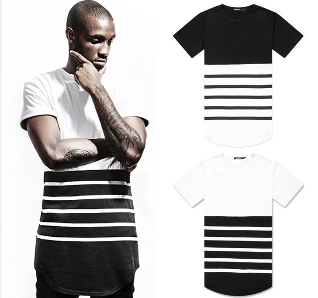 dd8d9926d45 extender Tee Long Length Oversized T Shirts Sweatshirts Tee Kanye west CoCo  New Styles Men women Homme et femme T shirt Shirts