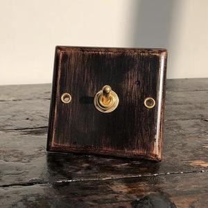 Wood Switch Vintage Copper Pol