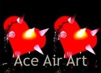Огромные лампочки надувной шар красного сердца с конусом для украшения Святого Валентина