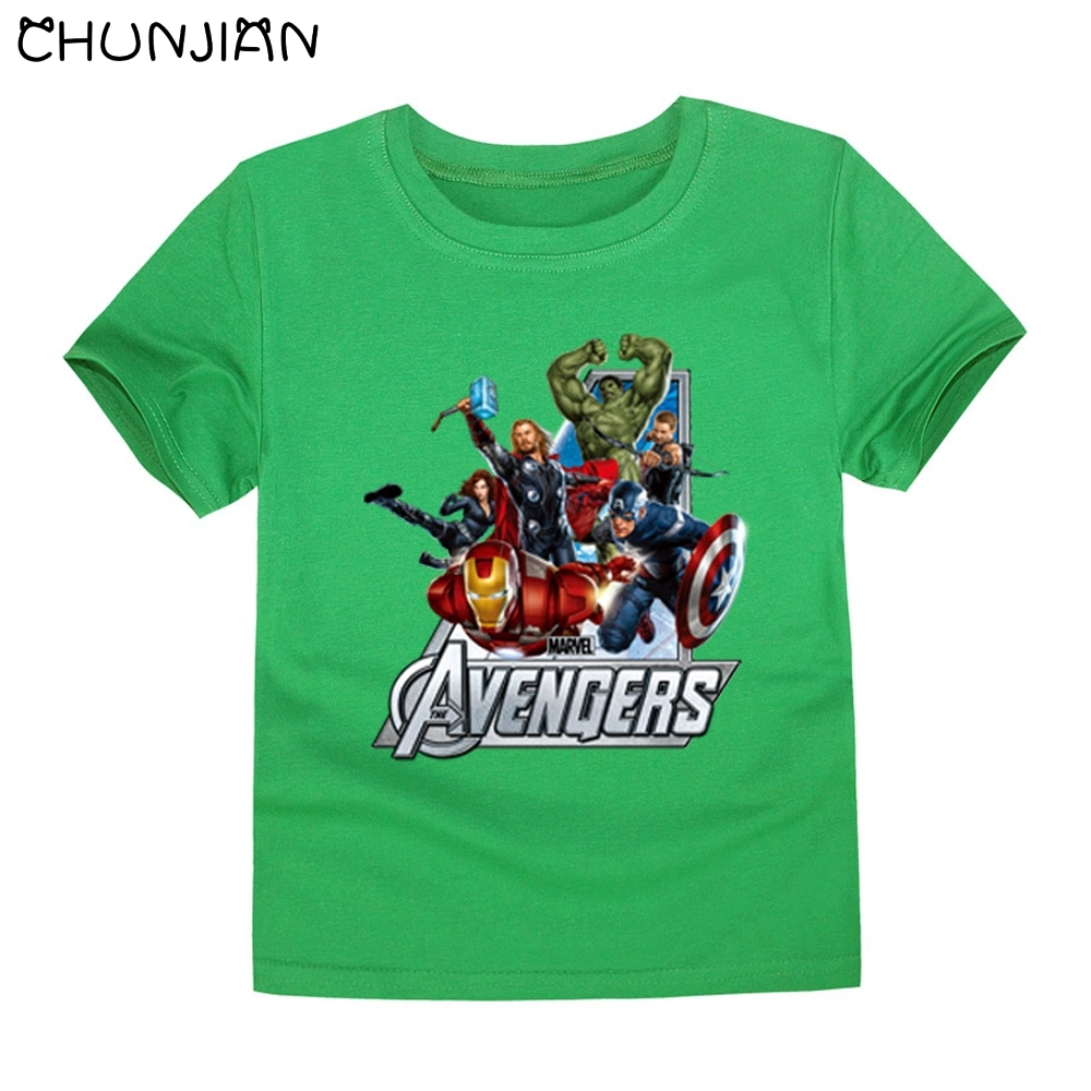 Chunjian Fashion 2016 Marvel The Flash Superhero Avenger: boys superhero t shirts