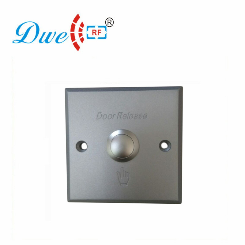 DWE CC RF Access Control Accessories Exit Button Release Push Button NO/NC/COM For Access Control System DW-B03A square access control touch exit button nc no com 86 86mm plastic exit push release button switch for door access control system