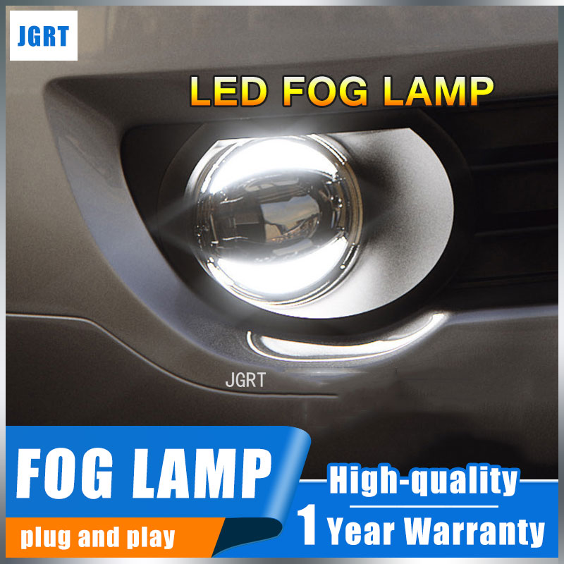 JGRT 2012-2014 For Toyota vigo hilux foglights+LED DRL+turnsignal lights Car Styling LED Daytime Running Lights LED fog lamps car styling fog lights for toyota camry 2012 2014 pair of 12v 55w front fog lights bumper lamps daytime running lights