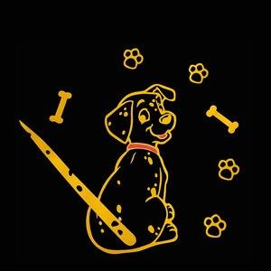 Image 3 - Модная мультипликационная наклейка с животным KAWOO для автомобиля, милый щенок с движущимся хвостом, автомобильные наклейки, светоотражающие украшения для заднего стекла и стеклоочистителя автомобиля