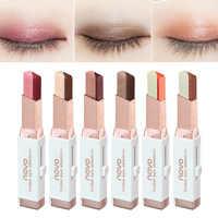 Color Eye Shadow Stick Stereo Gradien Velvet Shimmer Double Color Eye Shadow Cream Pen Eye Makeup Palette Cosmetics Waterproof