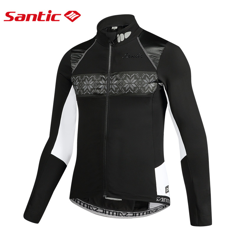 Santic Mens Women Cycling Jacket Winter Outdoor Bicycle Jacket Fleece Warm Pro Fit SANTIC WARM MTB
