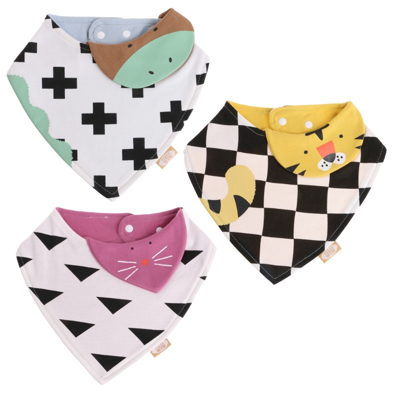Baby Care Soft Baby Bandana Triangle Towel Cute Cartoon Newborn Infant Saliva Bib For Girls Boy Lovely