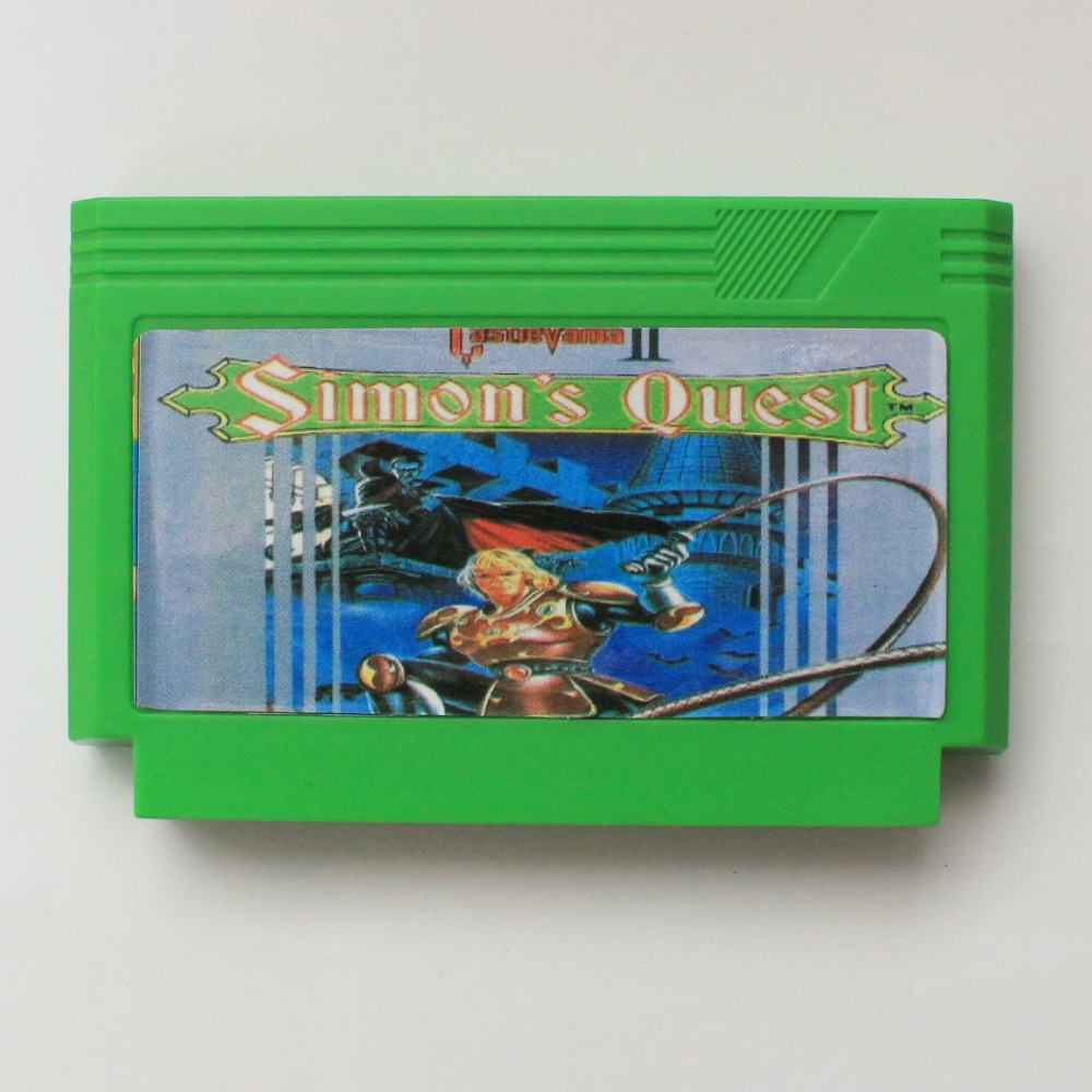 Top Quality Game Cartridge 60 Pins 8 Bit Game Card - Castlevania II Simon's Quest image