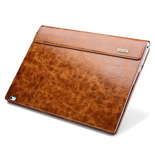 For Microsoft Surface Book Case Sleeve Oil Wax Vintage Genuine Leather Carrying Case 13.5 inch Pouch Bag Wallet Sleeve Covers