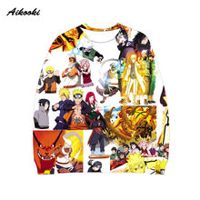 Aikooki Naruto 3D Sweatshirt Men / Women Capless Hoodies 3D Print Anime Naruto Polluvers Men Women 3d Sweatshirts Thin Clothing(China)