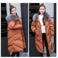 Maternity winter coat Pregnant women pregnant women cotton coat large size coat tide tan collar collar long hooded jacket
