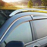 Plastic Visor Vent Shade Window Sun Rain Guard Deflector Trim 4pcs for Honda CRV CR V 2017 2018 Car accessories