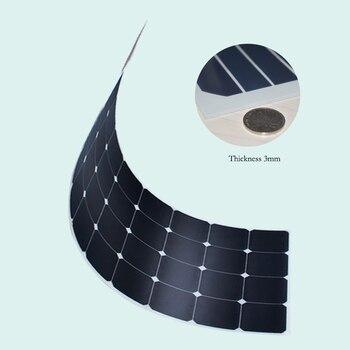 Solar panel monocrystalline 200W foldable flexible panels 2 pcs 18V 100w with 20A Controller 12V or 24V 200 Watt 100 Watt system 3