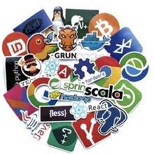 все цены на 50PCS developer programmer software APP language programming suitcase sticker laptop phone stickers онлайн
