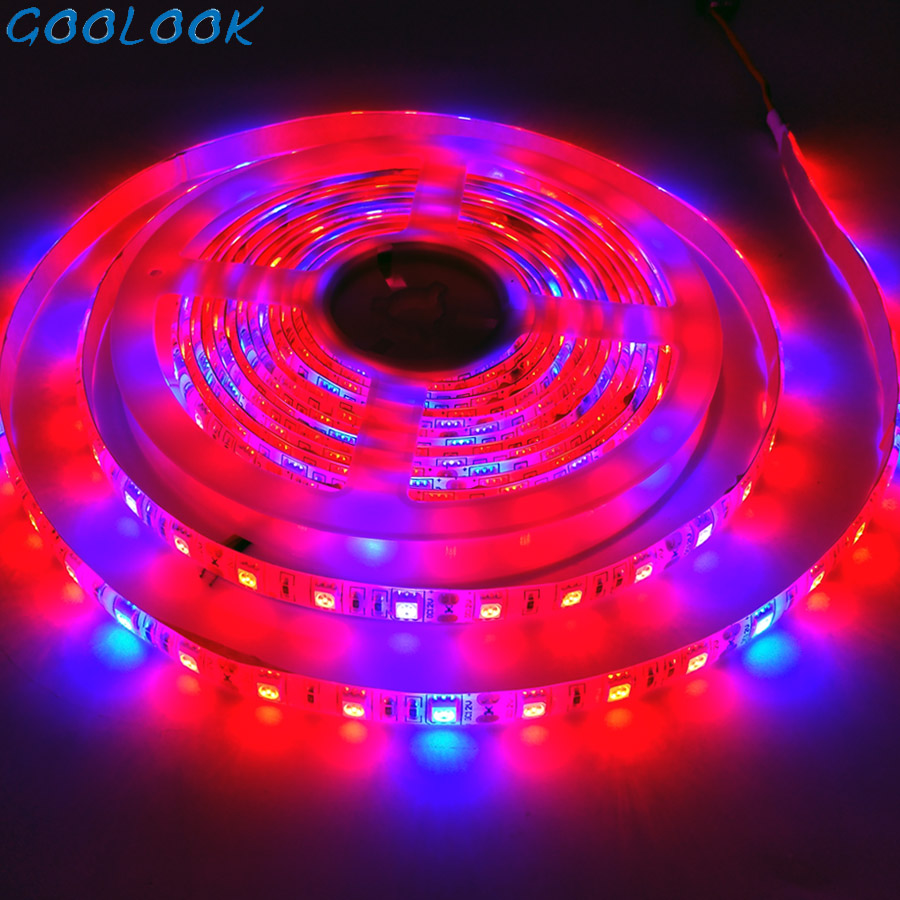 Full Spectrum LED Grow Light 5M 3M 2M 5050 DC12V LED Strip Flower Plant Phyto Growth Lamps For Aquarium Greenhouse Plant Growing