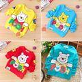 2016 New Baby Meninos Roupas de Manga Longa Dos Desenhos Animados Winnie Impresso T-shirt Longo Da Luva Tops Pulôver Camisola Idade 6-24 M