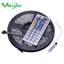 IP65 SMD 5050 RGB LED Strip Light Waterproof 300 LEDs 5M Flexible Tape with 44Key Mini IR Remote Controller LEDStrip Tape Ribbon