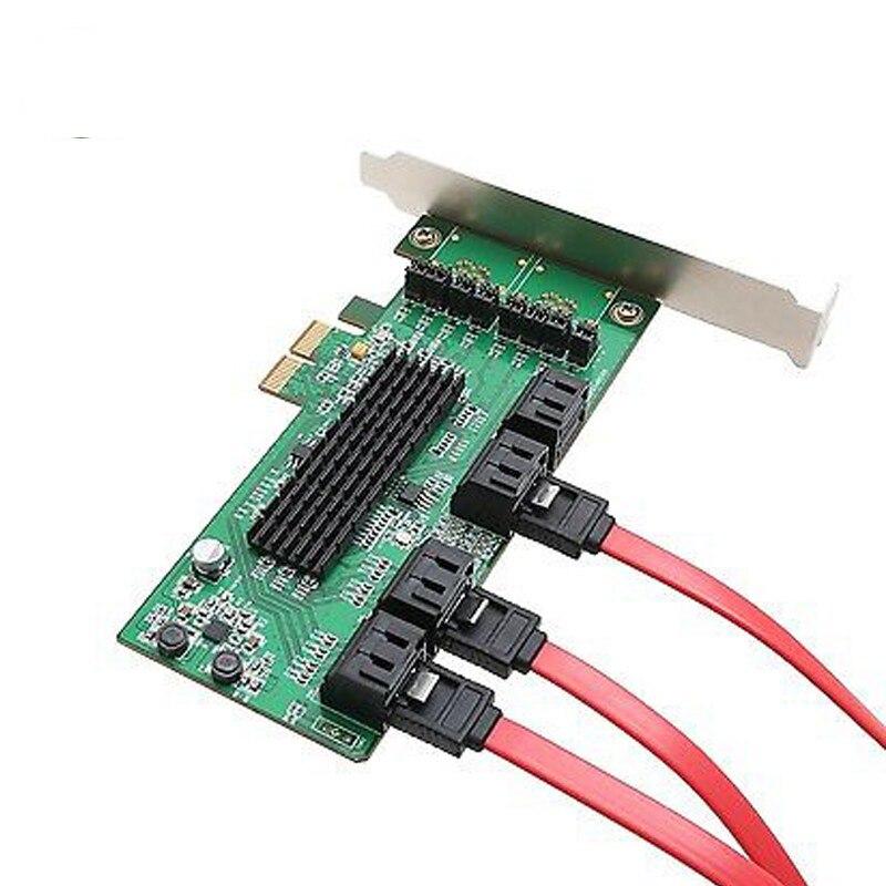 Best seller Marvel chipet Multi port PCI Express internal SATA III 6g 8 port Controller Card