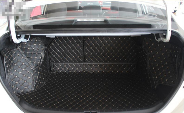 Special Trunk Mats For Toyota Corolla 2017 2007 Waterproof Cargo Liner Boot Carpets Free Shipping